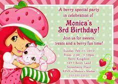 printable birthday invitations strawberry shortcake strawberry shortcake birthday party invitations printable digital