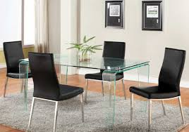 Glass Round Dining Room Table Glass Dining Room Table Sets With Rectangular Glass Table Home