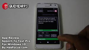 speech to text pro windows 10 app review givemeapps youtube