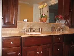 small bathroom design and decoration using brown marble bathroom