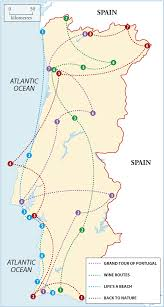 Map Of Portugal And Spain by Portugal Itineraries Rough Guides
