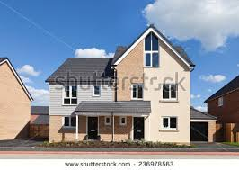 House With Garage Semi Detached Stock Images Royalty Free Images U0026 Vectors