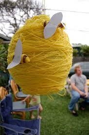 bumble bee pinata beehive pinata make a papier mache pinata wrap in yarn no