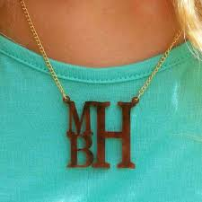 acrylic monogram necklace stacked acrylic monogram necklace i jewelry