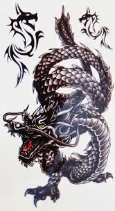 cute black outline dragon tattoo design