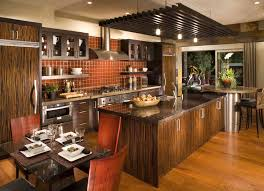 interior european kitchen design of kitchen island with breakfast
