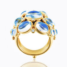 beautiful jewelry rings images 18k bombe ring with royal blue moonstone and diamond jpg