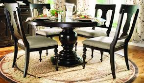 Round Pedestal Dining Room Table Paula Deen Home 5 Pc Round Pedestal Dining Set In Tobacco Code