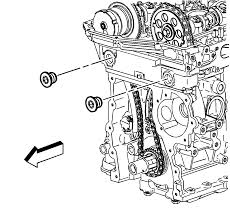 repair instructions timing chain tensioner removal 2004 gmc