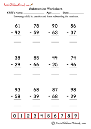 double digit subtraction worksheets with borrowing aussie