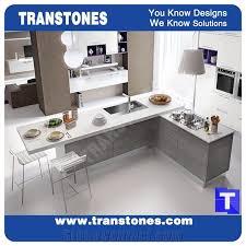 Quartz Table L L Shaped White Quartz Kitchen Worktops Binaco