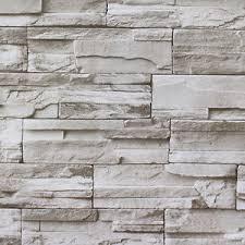 faux stacked stone peel stick wallpaper lt grey brick self