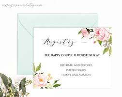 wedding registry templates peony thank you card template printable pink watercolor