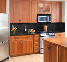 what color wood floor goes with maple cabinets good looking kitchen good looking unfinished oak kitchen cabinetry with cherry cabinets designs also stainless steel refrigerator on laminate wooden flo