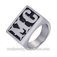 Monogram Initial Ring Custom 925 Sterling Silver Letter H Stackable Initial Ring Buy