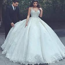 discount lace ball gown wedding dresses 2017 2018 spaghetti straps