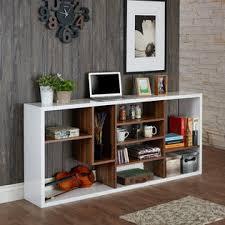 Tiered Bookshelf 247shopathome Albany Contemporary Style White U0026 Walnut Glossy
