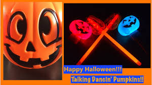 light up pumpkins talking and playing happy halloween learning