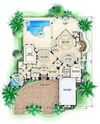 house plans with pool home plans pool mediterranean with floor plan house plan pool bath