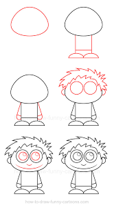 how to draw a kid
