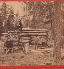 rare stereoview photo photographer roche cabin equipment
