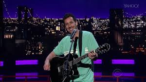 happy thanksgiving song adam sandler adam sandler sings touching and quirky tribute to david letterman