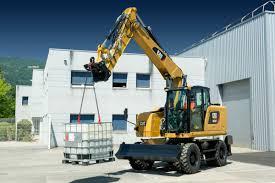 cat f series wheeled excavators and wheel material handlers