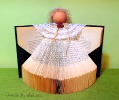 Christmas Angel Table Decorations by How To Make A Book Angel Decoration Crafts Angel And Decoration