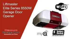 liftmaster jackshaft garage door opener liftmaster elite series 8550w garage door opener 918 234 door or