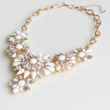 statement necklace with flower images 52 white flower statement necklace white flower statement jpg