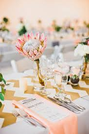 Gold Table Centerpieces by 40 Trend Protea Wedding Ideas For 2016 Deer Pearl Flowers