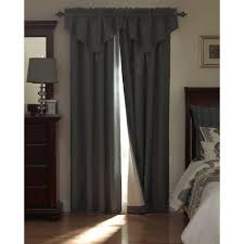 Chocolate Curtains With Valance Beautyrest National Sleep Foundation Room Darkening Chocolate