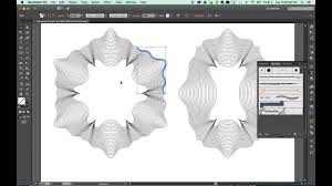 pattern drawing illustrator adobe illustrator envelope distort creating guilloche patterns