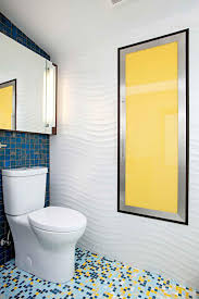 yellow tile bathroom ideas photos hgtv colorful contemporary bathroom with textured wavy