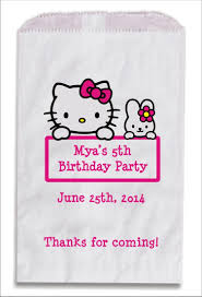 hello kitty personalized party favor bags 10 count personalized