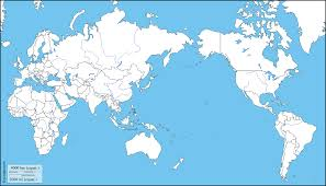 Blank Map World Map by World Pacific Ocean Centered Free Map Free Blank Map Free