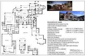 Custom Design Floor Plans Floor Plans 7 501 Sq Ft To 10 000 Sq Ft Planos De Casas En