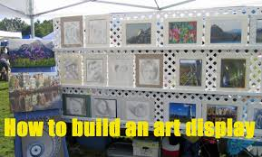 display art how to build a display for art and craft shows youtube