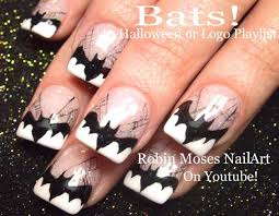 black halloween nail art designs step by step cat tutorial youtube