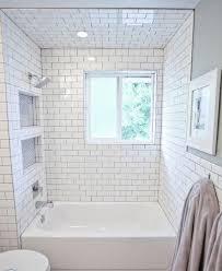white tile bathroom ideas 29 white subway tile tub surround ideas and pictures bath beautiful
