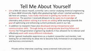 tell about yourself job interview job interview questions and answers tell me about yourself