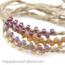 braided bead bracelet images Braided bead and hemp bracelets happy hour projects jpg