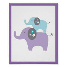 kinderzimmer poster elefant kinderzimmer poster zazzle de