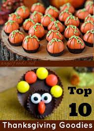 top 10 thanksgiving goodies foods
