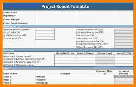 Project Reporting Template Excel Project Report Template Executive Weekly Status Report Template