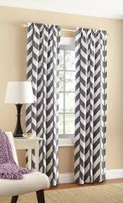 Walmart Red Grommet Curtains by Amazon Com Mainstays Chevron Polyester Cotton Curtain Panels Set