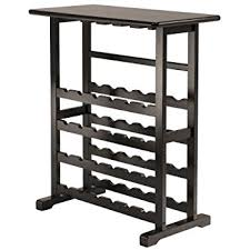 amazon com merry products 16 bottle wine rack espresso