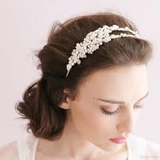 hair bands for wedding dress hair accessories bridal headband sliver