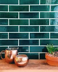 green tile kitchen backsplash copper kitchen kitchens and subway tiles