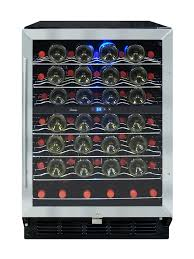 locking wine display cabinet vinotemp vt 58sb id built in 58 bottle locking wine cooler locking